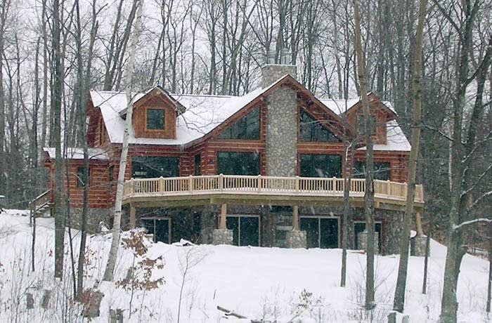 Log and rock house plans house design plans for Log and rock homes